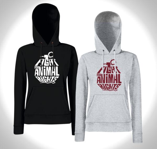 FIGHT FOR ANIMAL RIGHTS – Girls Hoodie – Tierschutz VEGAN Vegegarier Punk Peta