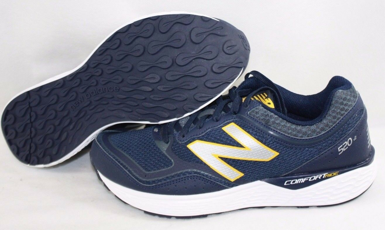 NEW Mens NEW BALANCE M 520 LP2 Navy Blue Yellow Running Training Sneakers Shoes