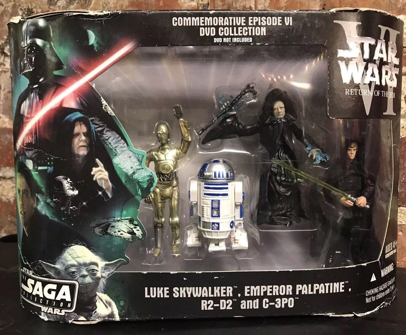 Star Wars Saga Collection Commemorative Episode VI Luke R2D2 Palpatine Box Set
