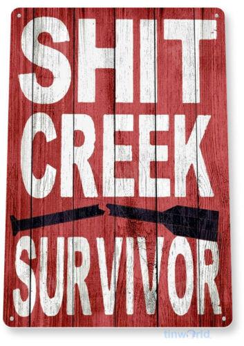 Creek Survivor River Paddle SUP Canoe Lake House Metal Sign Decor Tin Sign B453