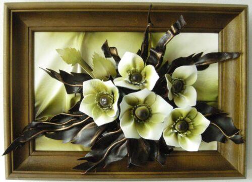 Lederbild dans 3d optique-NEUF /& Emballage D/'origine-k3-7 fleurs-cadres en bois-travail manuel