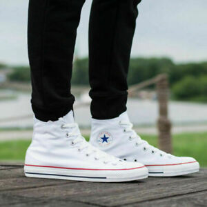 Details about Converse Chuck Taylor All Star High Optical White Sneakers M7650 Men 11 Women 13