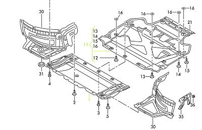 Audi A6 15-17 OEM Engine Splash Shield Guard 4G0863821 GENUINE A6AR