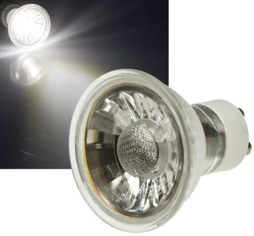 230V EEk A Gu10 LED Einbaustrahler // 5W=50W High Power COB Spot Stahl