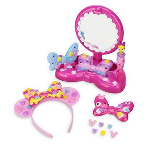 Disney Store Minnie Mouse Headband Bow Maker Vanity Girls Set Gift