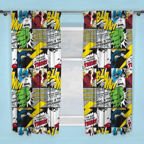 """Marvel Comics Scribble Made Rideaux 72/"""" GOUTTE chambre à coucher"""