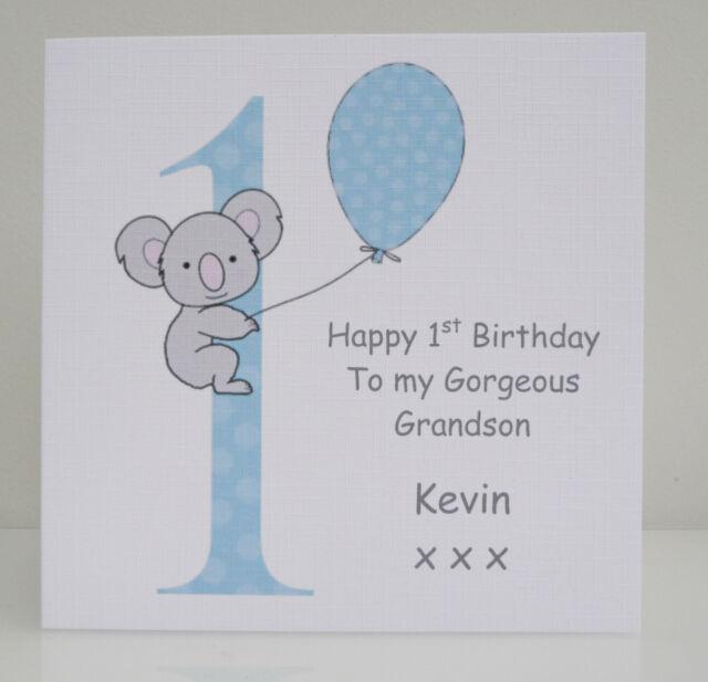 Personalised Boys 1st Birthday Card Son Grandson Nephew Godson First