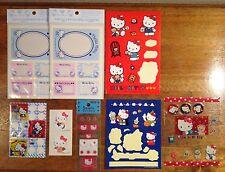 Vintage Sanrio Hello Kitty Sticker Lot - Look!