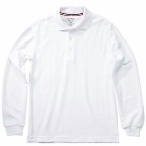 0086e7940 French Toast Toddler Boy's Long Sleeve Pique Polo White Uniform ...