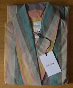 Détails sur Paul Smith artiste signature à rayures Classique pour Homme à Rayures Robe De Chambre Robe Grande afficher le titre d'origine