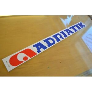 ADRIA Adriatik Caravan Roof Sticker Decal Graphic - SINGLE