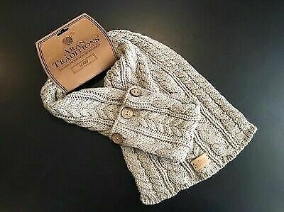 Aran Traditions Island Heritage Workshop Beige Scarf - NEW with TAGS
