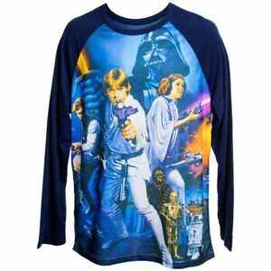 Star-Wars-Original-Movie-Poster-034-A-New-Hope-034-Graphic-Baseball-Tee-Shirt-LG-NWT