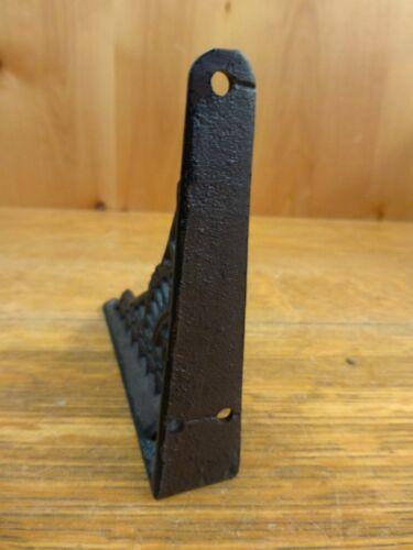 "6 SMALL BROWN ANTIQUE-STYLE 5/"" SHELF BRACKETS CAST IRON garden rustic EASTLAKE"