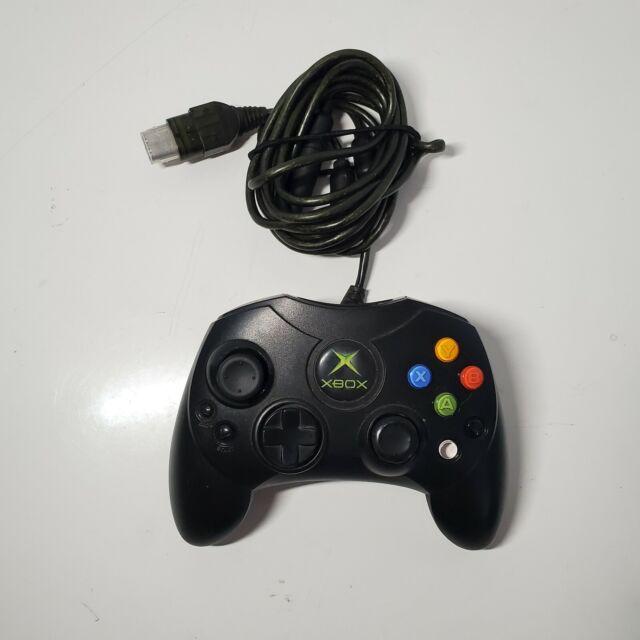 Microsoft Xbox Original Black Controller Model S - New Thumbsticks W/ Breakaway