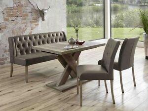 Tischgruppe-Manchester-Essecke-Tisch-Bank-Polsterstuhl-Wildeiche-cappuccino