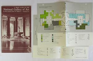 Vintage-1967-NATIONAL-GALLERY-OF-ART-Souvenir-Guide-Book-Washington-DC-MAP-Photo