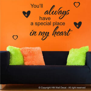 Youll Always In My Heart Diy Inspirational Quote Wall Decal