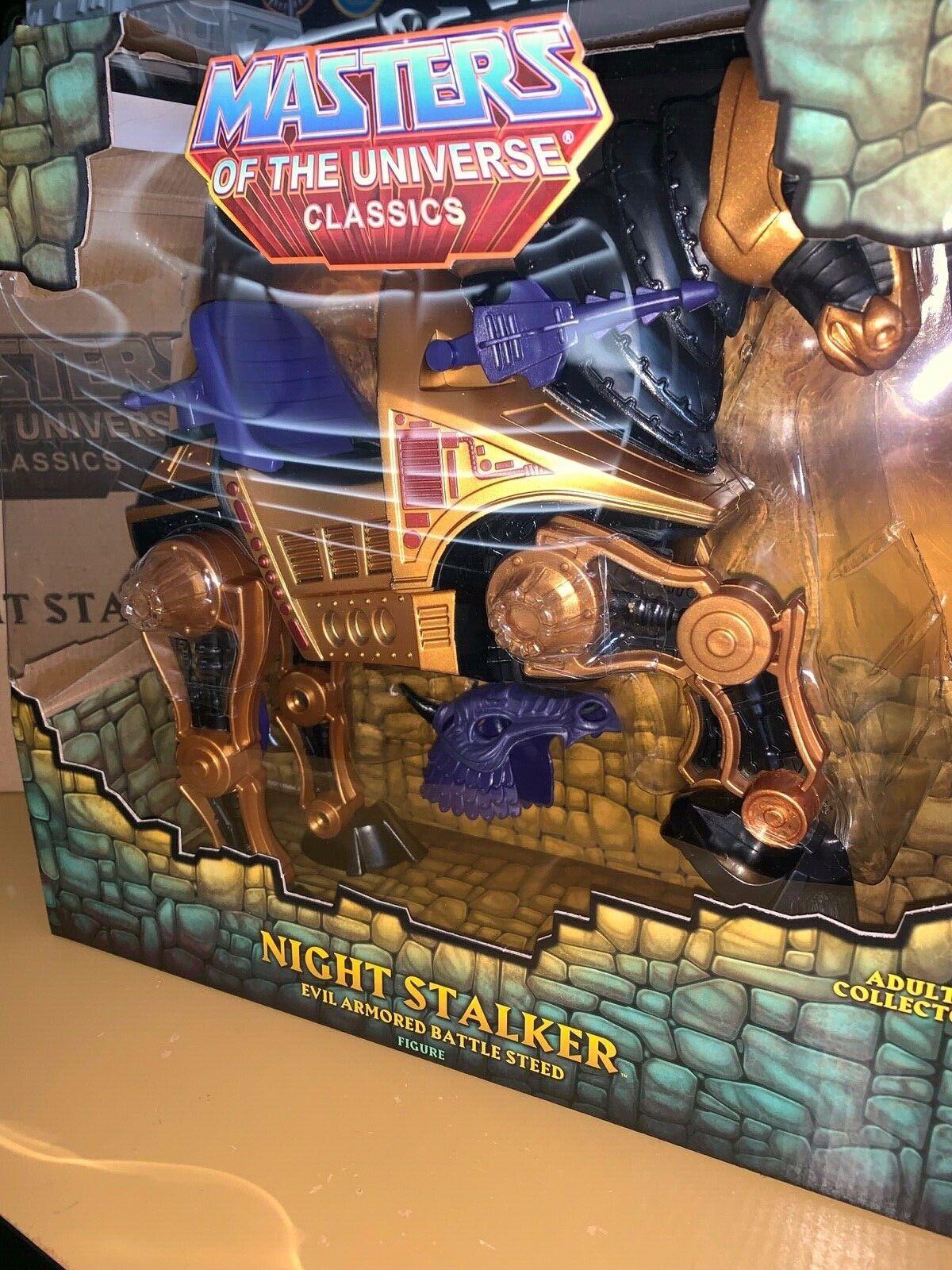 Master of Universe classeics Night Stalker Evil Skeletor Steed He-uomo MOUC Rare