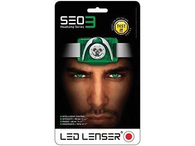 LED Lenser SEO3 Head Lamp Green Test It Pack