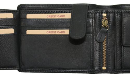Hill Burry Cuir Hommes portefeuille portmonnaie 6404 noir premium qualité