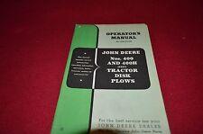 John Deere No. 400H 400 Disk Plow Operator's Manual DCPA5