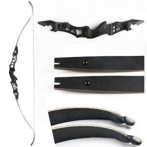 """Outdoor Sports Black 64"""" Archery Takedown Recurve Bow Hunting Right Hand 35-60lb Longbow Target"""