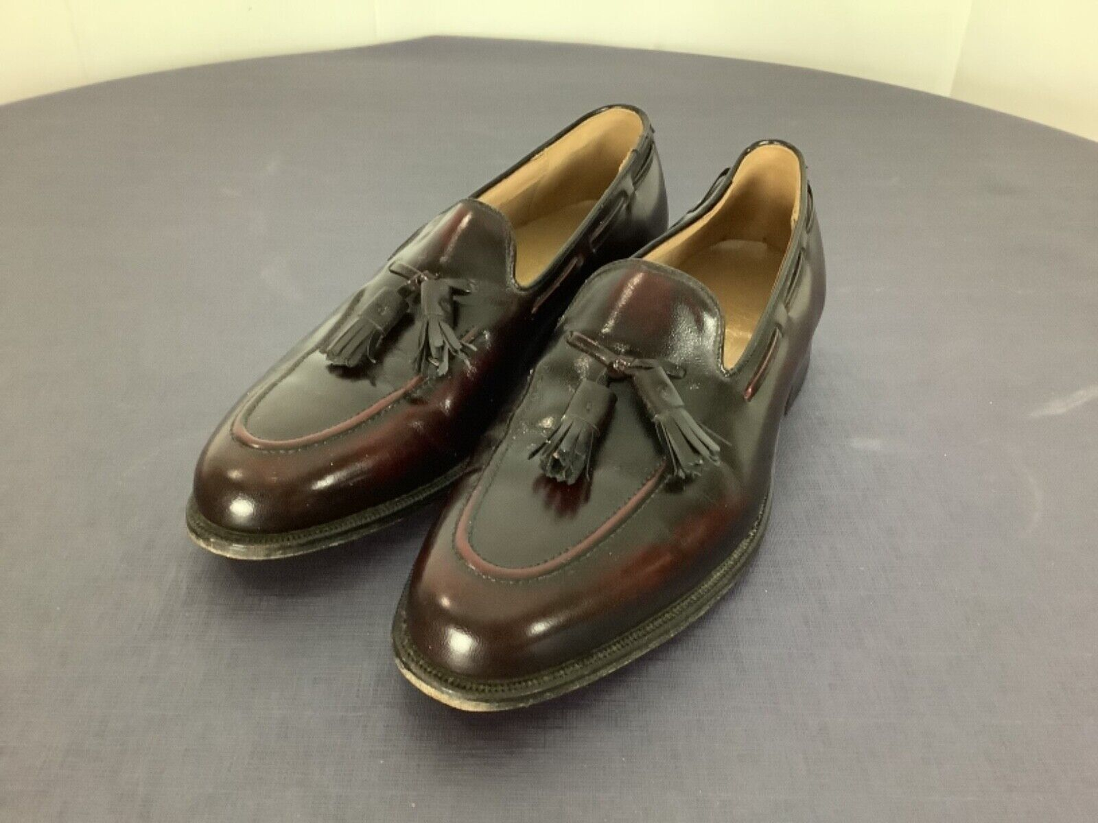 Johnston & Murphy Leather Tassel Loafer Made In USA Men's Size 8.5 D Oxblood