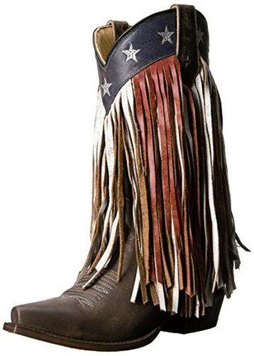 Roper Womens Americana Fringe Work Boot  D US Pick SZ//Color.