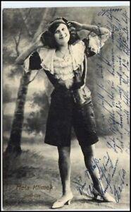 1912-Foto-AK-MELA-KLIMEK-Soubrette-Stempel-Gelsenkirchen-alte-Postkarte