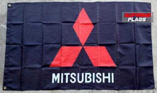 Mitsubishi Flag Banner 3x5 ft Car Automotive Mechanic Wall Garage