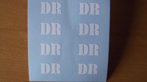 Aufkleber DR 20mm x 12mm für 4 Spur G Waggons für LGB Piko Newqida