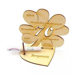 Kleeblatt Personalisiertes Geschenk 18 20 25 30 35 40 45 50 55 60 65 70 75 80