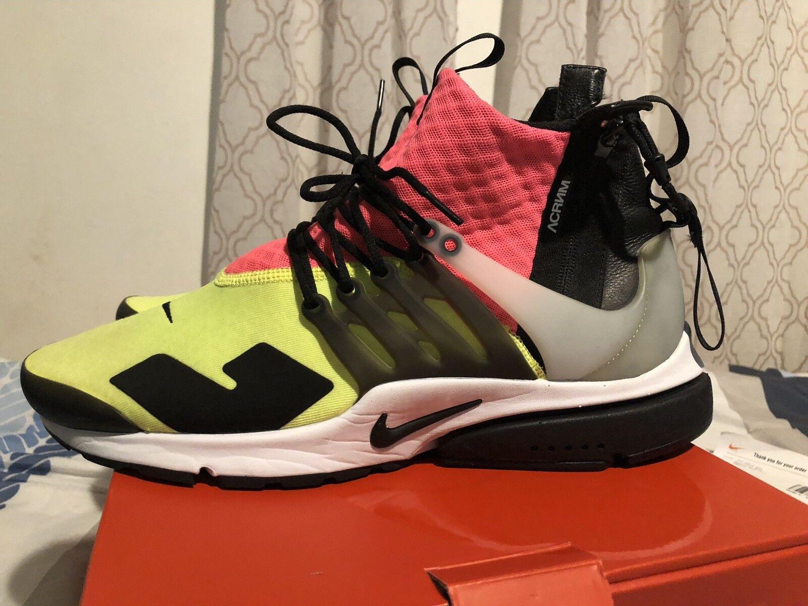 Nike Acronym Presto OG Lava Volt Sz. L 11-12 Off-white Union