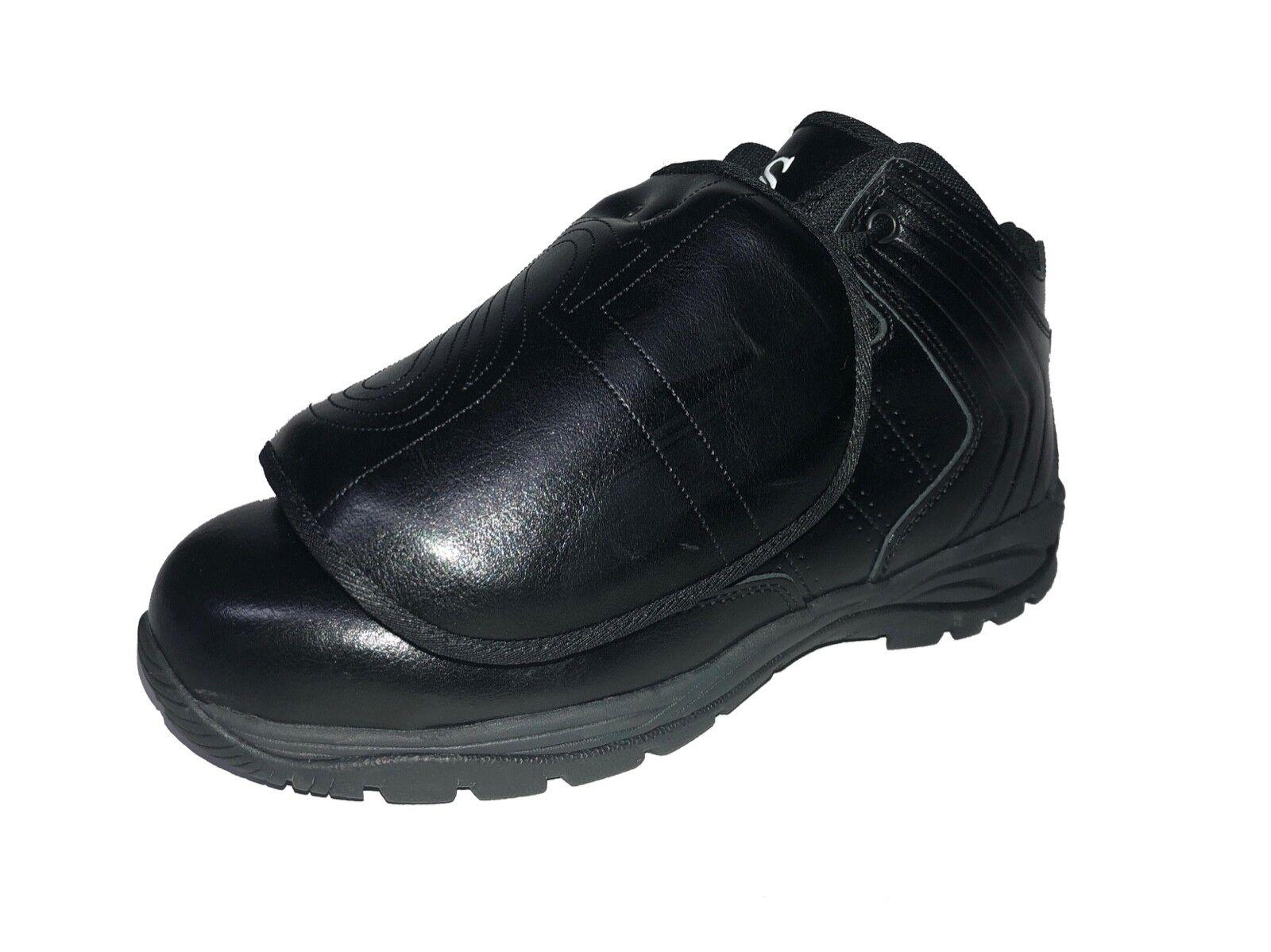 Smitty   BBS-PS1   árbitro Béisbol Profesional Corte Medio Zapatos De Placa   Todo Negro