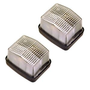 Trailer-Caravan-Light-Clear-Front-Position-Lamp-12v-PAIR-TR111