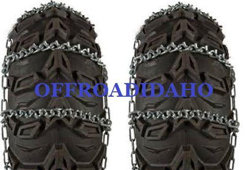 ATV TIRE SNOW ICE CHAINS 8 V BAR VBAR 23X7-10 23X7X10 23X7-11 23X7X11 23X8-12