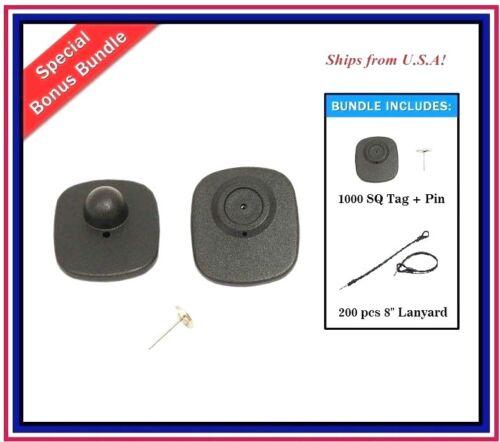 1000 EAS Checkpoint Compatible Anti Theft Hard Tag ValueCOMBO 200 Lanyard pin