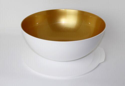 TUPPERWARE Allegra Servierschüssel  XXL 5,0L mit Deckel WEISS//GOLD