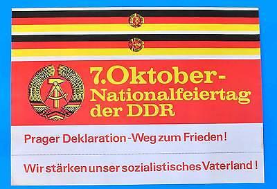 Clever Ddr Plakat Poster 1086 | 7. Oktober 1983 Nationalfeiertag | 81 X 57 Cm Original