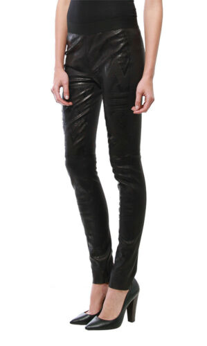 Twelfth St. by Cynthia Vincent | Embossed Leather Leggings - Black
