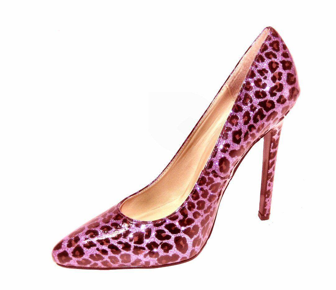 Pointy toe pumps 5.25 inch purple stiletto high heel shoe purple inch leopard glitter patent 11bd37