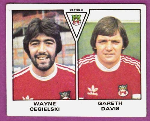 GARETH DAVIS PANINI FOOTBALL 80 #513-WREXHAM-WAYNE CEGIELSKI