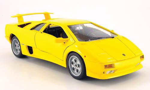 Lamborghini diablo 1990 burago 1 18 1 18  jaune bburago italia model voiture jaune  meilleurs prix et styles les plus frais