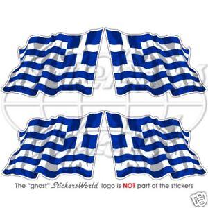 GREECE Greek Flying Flag Hellas Hellenic Bumper Sticker