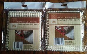 2 Nonslip Carpet Area Rug Grip Underlay Pad 18 Quot X 28 Quot Non