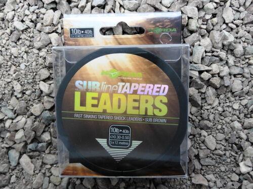 Korda Subline Tapered Leaders Schlagschnur 5x12m Verjüngt