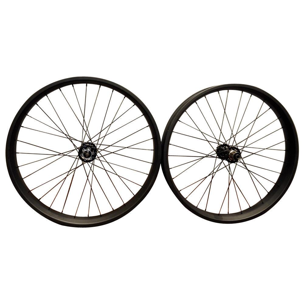 24er Fat Bike Carbon Wheels 80mm Width Bicycle wheelset Fatbike  wheel Snow Bike  new exclusive high-end