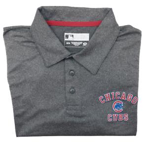 Chicago Cubs Men's Medium Heather Gray NWT Heather Performance Golf Polo MLB