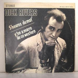 Dick-Rivers-5heures-Du-Mat-039-Y-039-en-A-Marre-De-Ce-Western-Vinyl-10-034-45-RPM